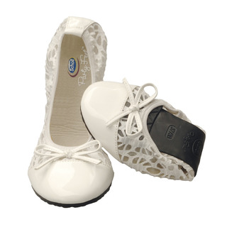 Pocket Ballerina premium - biele balerínky