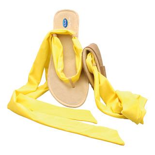 Pocket Ballerina Sandals - žlté / čierne balerínky