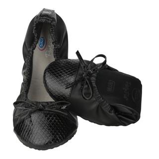 Pocket Ballerina CROCO - čierne balerínky