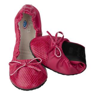 Pocket Ballerina CROCO - červené balerínky