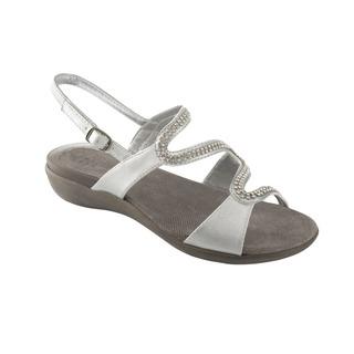 LINKOL strieborné zdravotné sandále