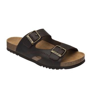 Moldava AD - tmavo hnedé zdravotné papuče