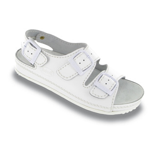 AIR BAG s pásikom - biele zdravotné papuče