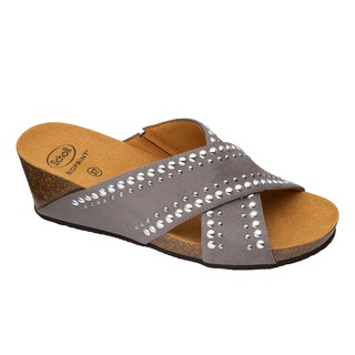 MICHELLE CROSS šedé zdravotné papuče