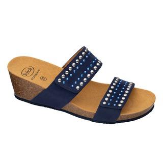 MICHELLE 2 STRAPS tmavo modré zdravotné papuče