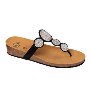 SHARON FLIP-FLOP - čierne zdravotné papuče