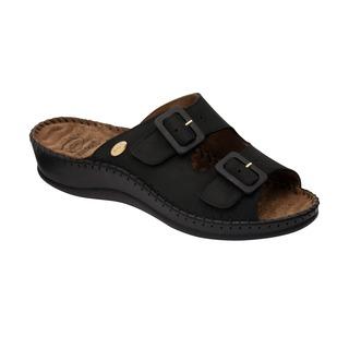 WEEKEND čierne zdravotné papuče