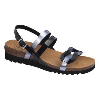 SOFIA SANDAL čierno cínové zdravotné sandále
