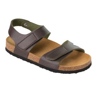 Dinder KID - zelené detské zdravotné papuče s pásikom