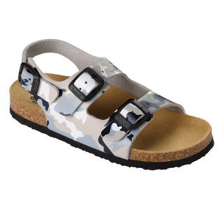 AIR BAG KID - šedé detské zdravotné papuče s pásikom