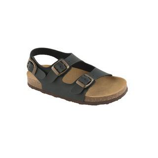 AIR BAG KID - antracitové detské zdravotné papuče s pásikom