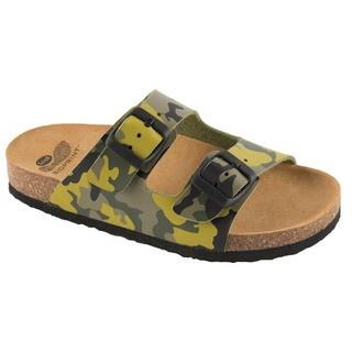 AIR BAG KID - zelené detské zdravotné papuče