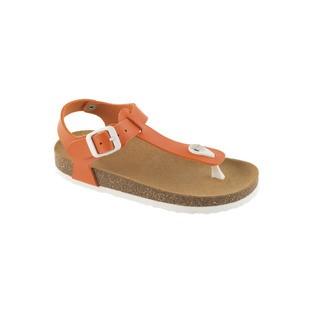 BOA VISTA KID oranžové detské zdravotné papuče s pásikom