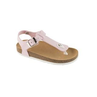 BOA VISTA KID ružové detské zdravotné papuče s pásikom