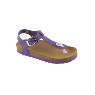 BOA VISTA KID purpurovej detské zdravotné papuče s pásikom