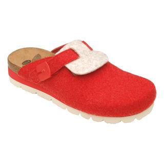 AMERICA červená / béžová domáca obuv