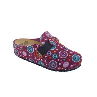 LARETH purpurová / multi purpurová domáca obuv