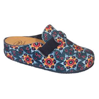 LARETH modrá / multi domáca obuv (model 2019)