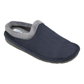 SIMONE tmavo modrá / šedá domáca obuv