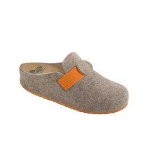 VARIS béžová / oranžová domáca obuv