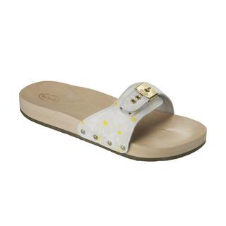 PESCURA FLAT biele zdravotné papuče