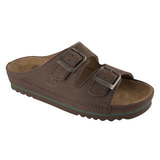 AIR BAG - tmavo hnedé zdravotné papuče