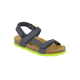Benji KID tmavo modré detské zdravotné papuče s pásikom