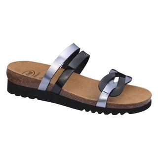 SOFIA čierno cínové zdravotné papuče