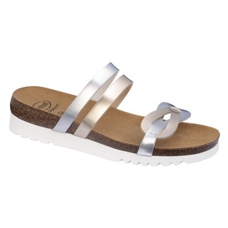 SOFIA platinovo strieborné zdravotné papuče