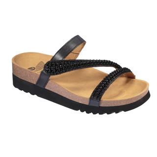 JOANNE - čierne zdravotné papuče
