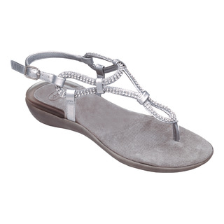 LUMEN strieborné zdravotné sandále