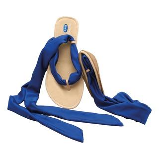 Pocket Ballerina Sandals - biele / modré balerínky