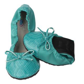 Pocket Ballerina CROCO - modrozelenej baleríny
