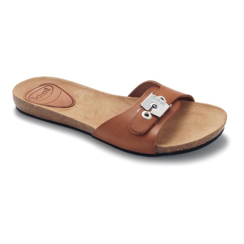 Scholl NEW BAHAMA 1.2 - hnedé zdravotné papuče
