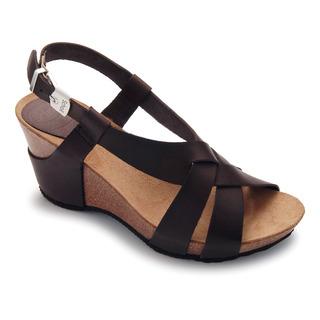 CORANTA - tmavo hnedé kožené módne sandále