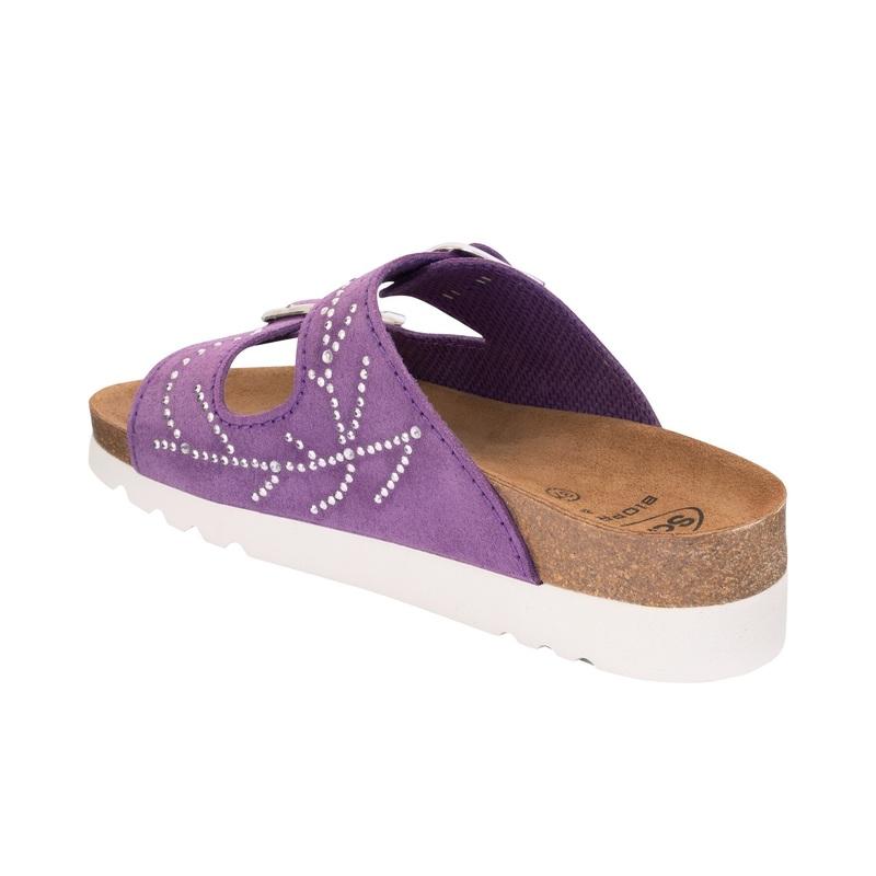 Scholl Mälaren fialové zdravotné papuče (model 2020)