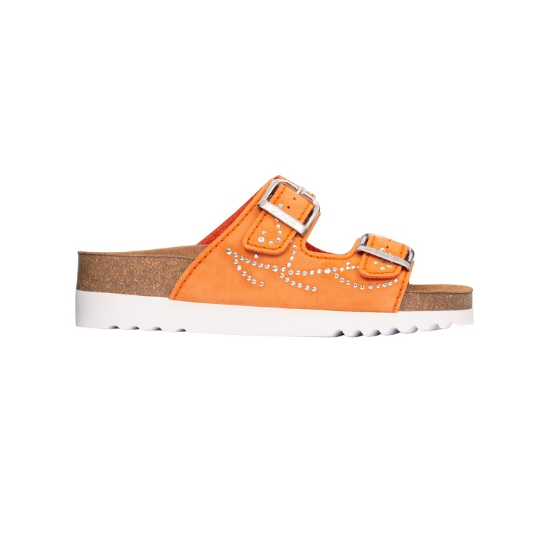 Scholl Mälaren oranžové zdravotné papuče (model 2020)