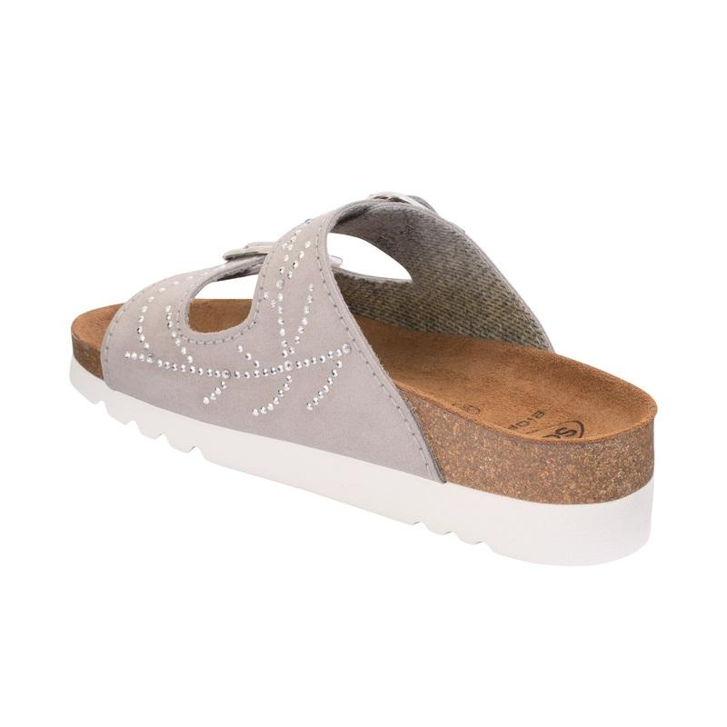 Scholl Mälaren svetlo šedej zdravotné papuče (model 2020)