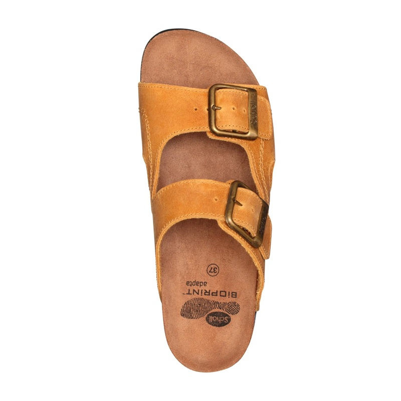 Scholl Moldava WEDGE AD - tmavo hnedé zdravotné papuče