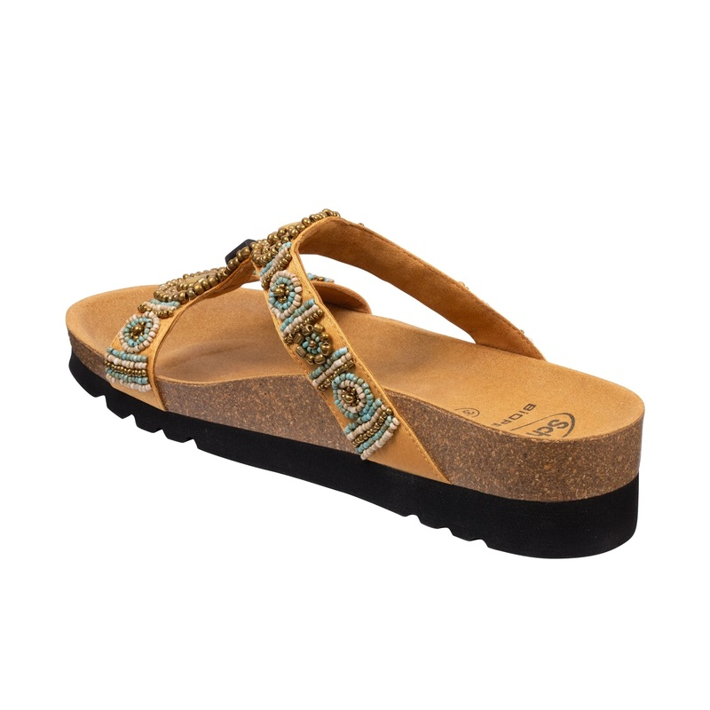 Scholl NEW BOGOTA wedge krémové zdravotné papuče