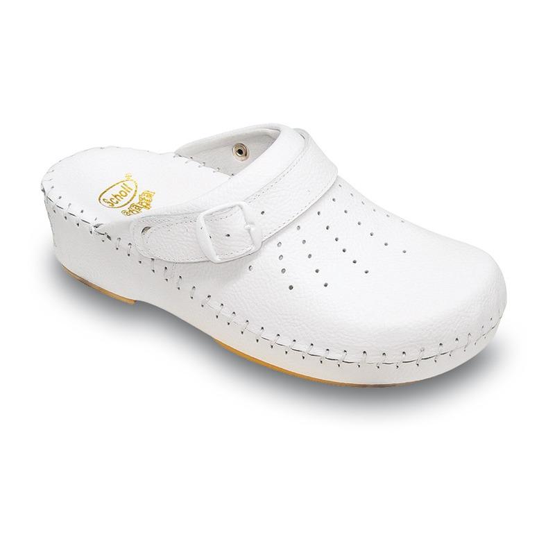 Scholl Clog ADAPTA biela pracovná obuv