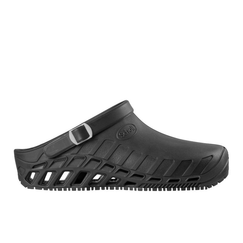 Scholl Clog EVO čierna pracovná obuv