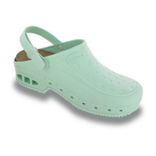 WORK FIT s pásikom - modrozelená pracovné sandále