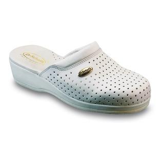 Clog BACK GUARD - biela pracovná obuv