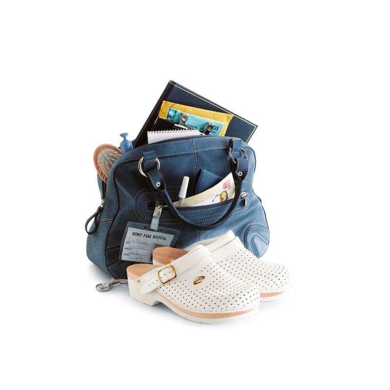 Scholl Clog SUPERCOMFORT - biela zdravotná obuv