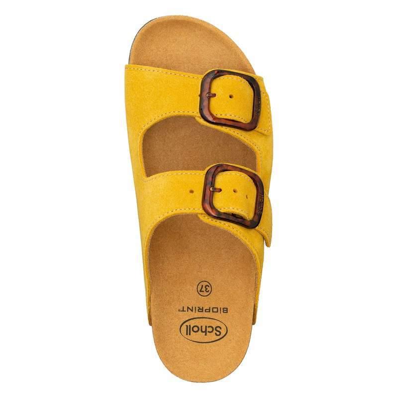 Scholl Ilari 2 STRAPS žlté zdravotné papuče