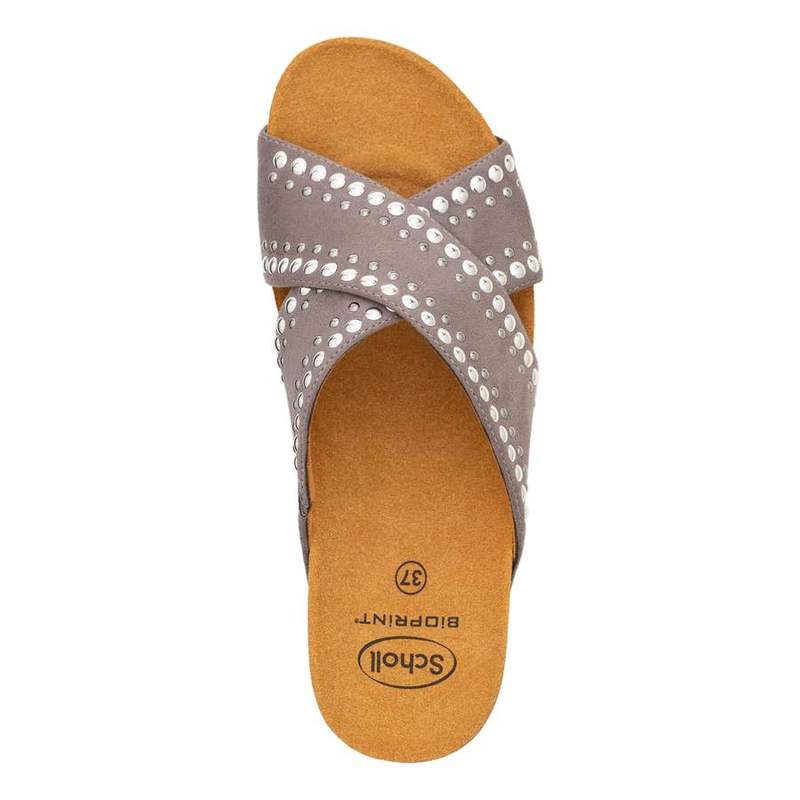 Scholl MICHELLE CROSS šedé zdravotné papuče