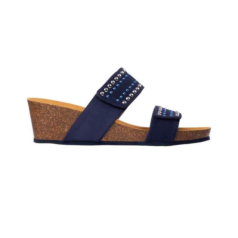 Scholl MICHELLE 2 STRAPS tmavo modré zdravotné papuče
