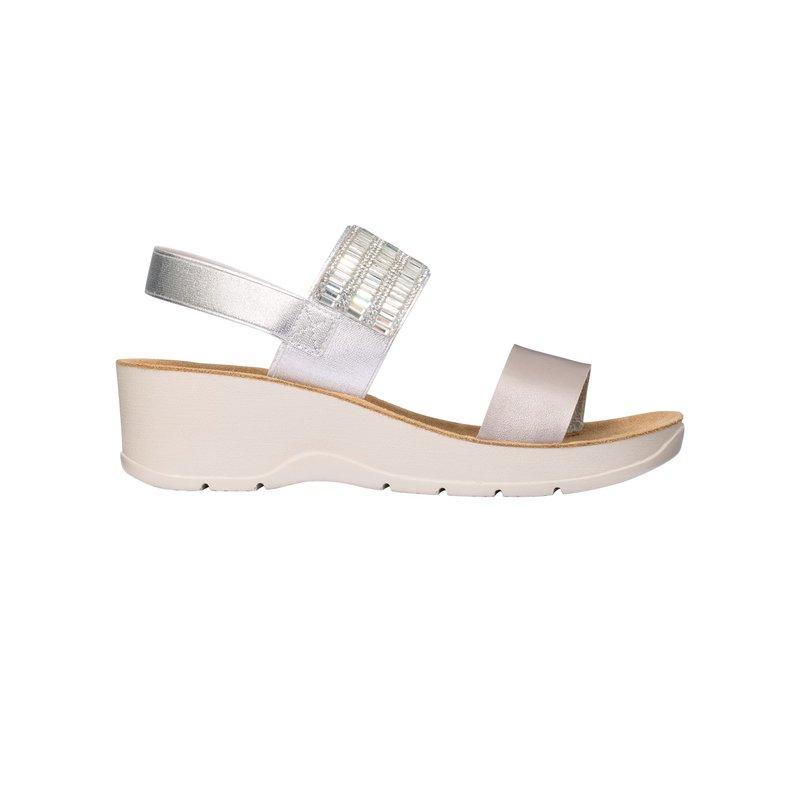 Scholl CRISTINA strieborné zdravotné sandále
