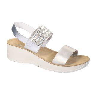 CRISTINA strieborné zdravotné sandále